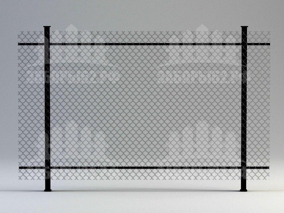 Заборы Рязань из сетки рабицы на двух прожилах (натяжные)