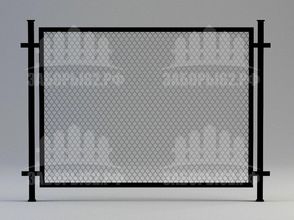 Заборы сварные металлические из сетки рабицы (секционные)
