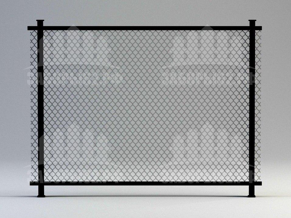 Заборы Рязань из сетки рабицы на уголке (натяжные)