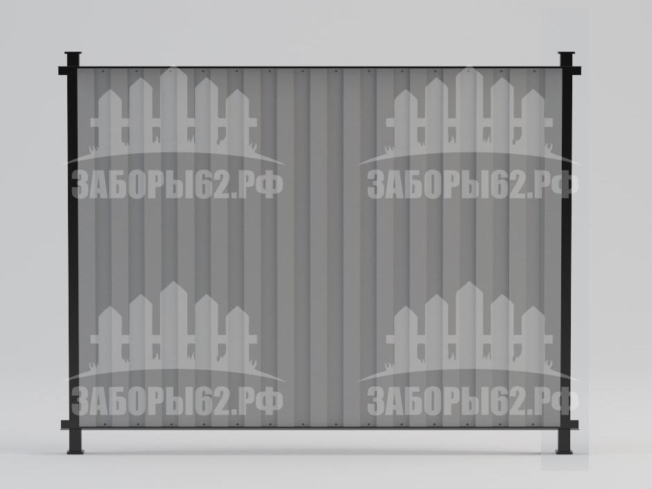 Забор из профлиста Рязань в уголке